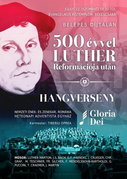 Hangverseny – 500 évvel Luther reformációja után
