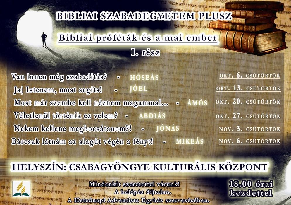 Bibliai szabadegyetem plusz