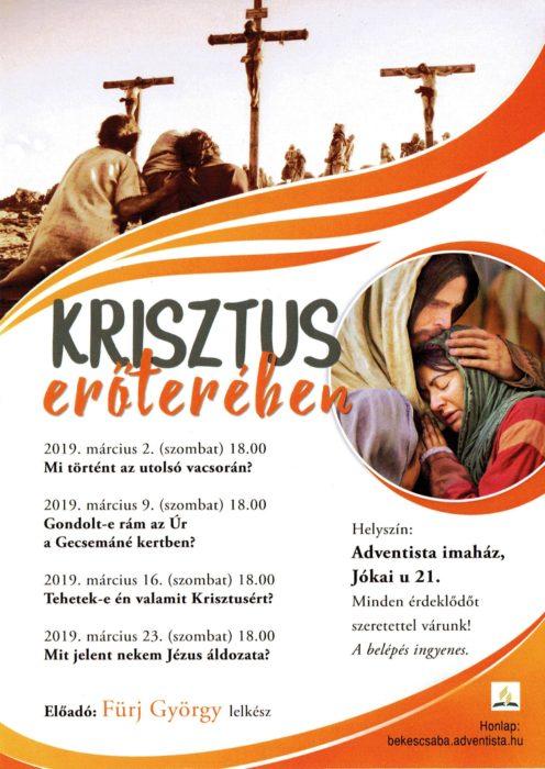 plakát Krisztus erőterében